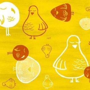 Smug Birds - Yellow