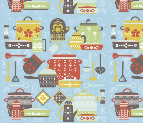 kitchen pots fabric by gnoppoletta on Spoonflower - custom fabric