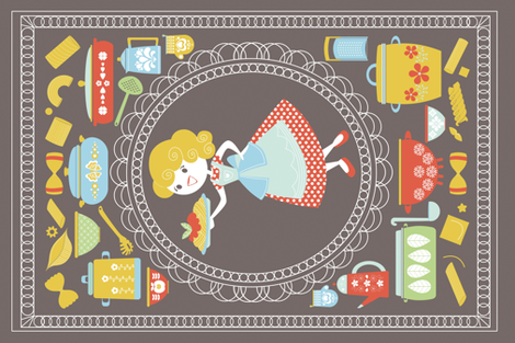 50's housewife fabric by gnoppoletta on Spoonflower - custom fabric