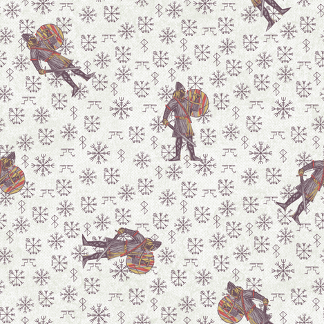 viking#2 fabric by susiprint on Spoonflower - custom fabric