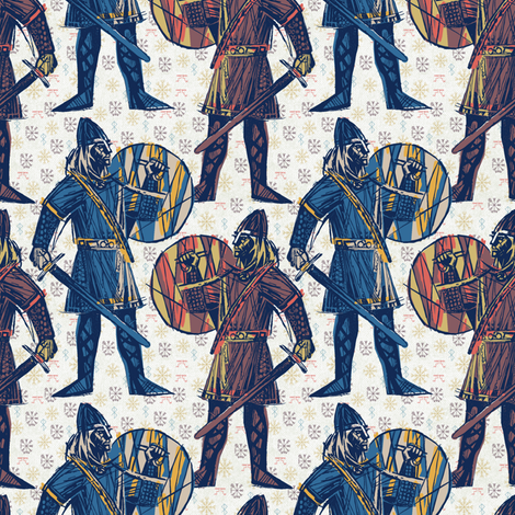 viking#1 fabric by susiprint on Spoonflower - custom fabric
