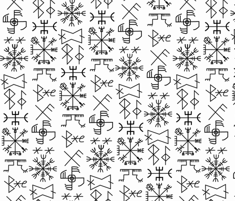 viking#3 fabric by susiprint on Spoonflower - custom fabric