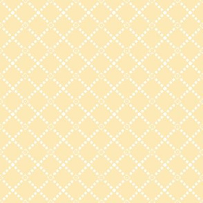 Petite Trellis in buttercup yellow