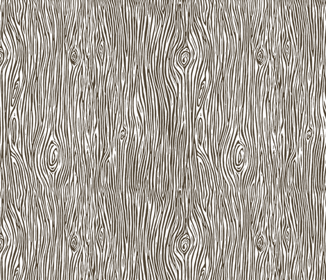 woodgrain // brown faux bois woodland tree forest  fabric by andrea_lauren on Spoonflower - custom fabric