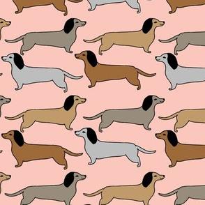 dachshunds // doxie dog weiner dog wiener dog sweet pink pastel dog print