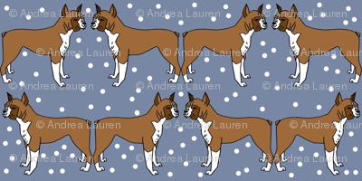 boxer // dog illustration dog breed pet dog boxer dog pattern blue pattern dog