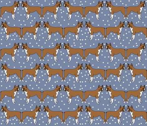 boxer // dog illustration dog breed pet dog boxer dog pattern blue pattern dog  fabric by andrea_lauren on Spoonflower - custom fabric