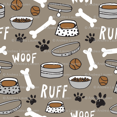 dog bone // paw print cute dog pet design hand drawn pet illustration