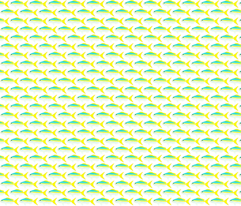 Yellowtail Snapper Pattern fabric by combatfish on Spoonflower - custom fabric