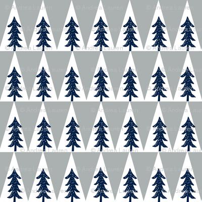 trees // navy grey kids boys nursery kids collection