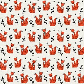 fox // red triangle kids mini small geometric triangle andrea lauren