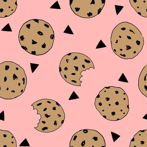 cookies // pink food kids girls food print fabric cute cookies fabric