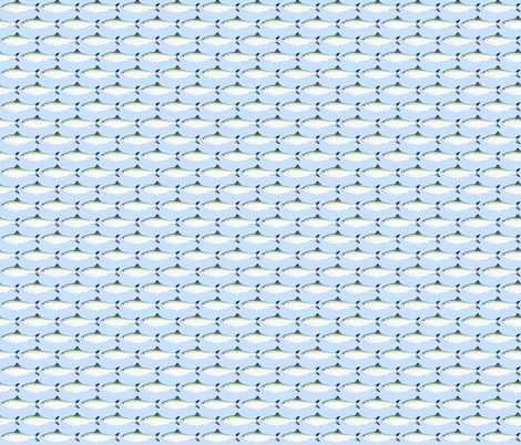 American Shad in blue fabric by combatfish on Spoonflower - custom fabric