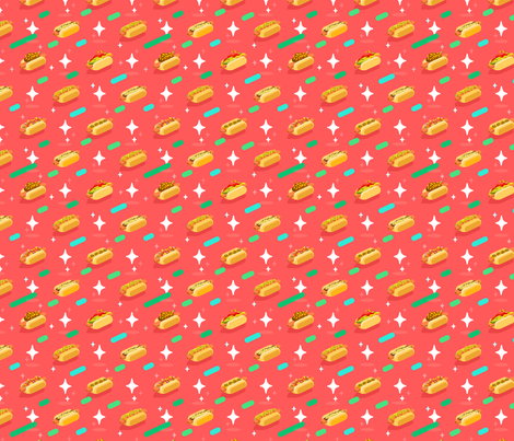 Hot Doggery! fabric by westgateillustrates on Spoonflower - custom fabric