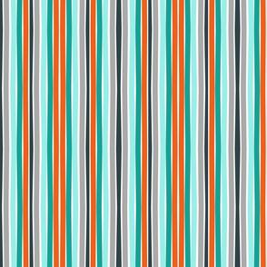 Autumn Citrus Stripes