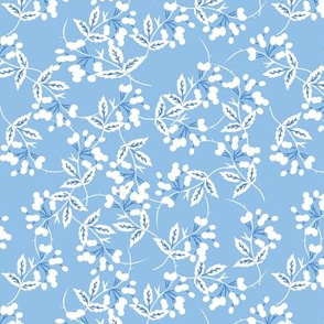 Barberries -- in white on pale blue