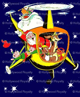 Santa Helicopter 2 - Retro Christmas Design