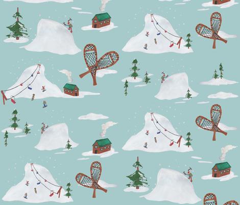 Winter Wandering fabric by chelsmarie on Spoonflower - custom fabric