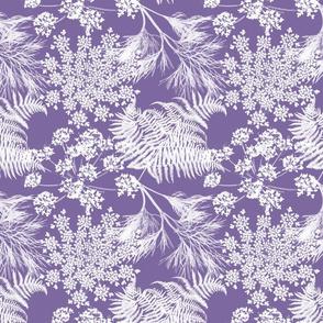 Botanical Silhouette - Purple