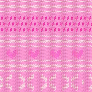 Pink Knit with Hearts