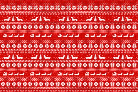 Love Joy Peace Wiener Dogs fabric by jennshvili on Spoonflower - custom fabric