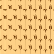 Decorative Arrow Pattern in Brown and Tan