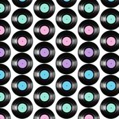 Retro Vinyl Records Colorful Pattern Design