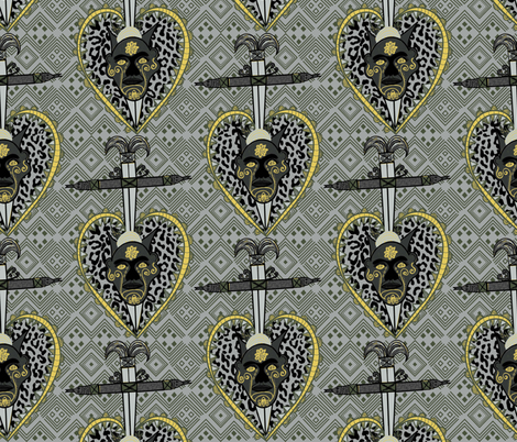 Shanteria grey fabric by susiprint on Spoonflower - custom fabric