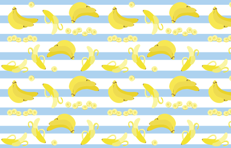 bananas with stripes fabric by eleventy-five on Spoonflower - custom fabric