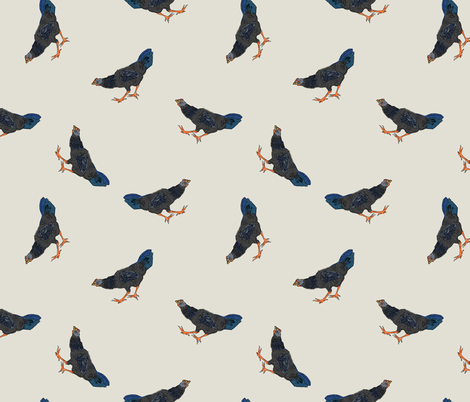 Hens #3 fabric by susiprint on Spoonflower - custom fabric