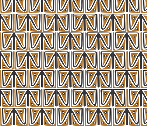 Lapun_brown_black fabric by malolo on Spoonflower - custom fabric