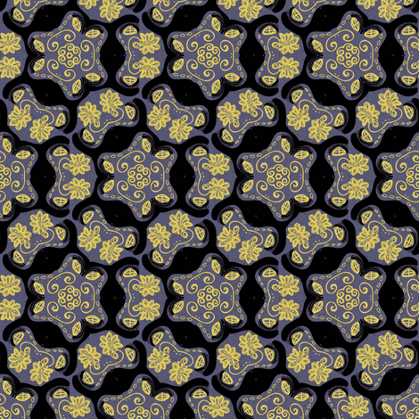 voodoo basic black and yellow fabric by susiprint on Spoonflower - custom fabric