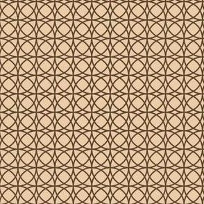 circles brown on beige