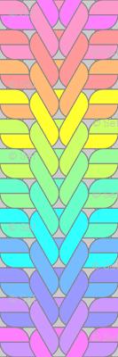 04885302 : ribbed knit + purl : rainbow