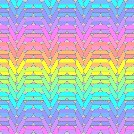 04885302 : ribbed knit + purl : rainbow fabric by sef on Spoonflower - custom fabric