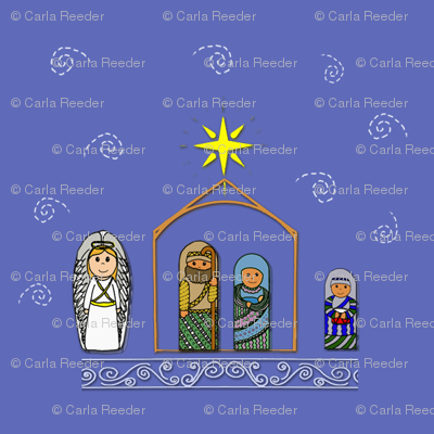 Nativity Fabric and Gift wrap