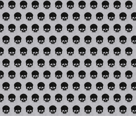 Sweater skulls fabric by angiehiller on Spoonflower - custom fabric