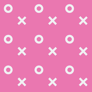 X's and O's pink