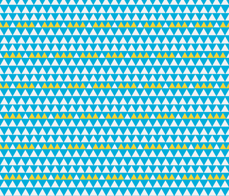 Triangles teal fabric by angiehiller on Spoonflower - custom fabric