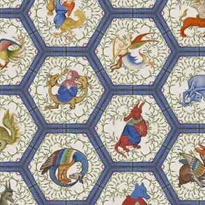 Medieval Creatures - Blue Frame