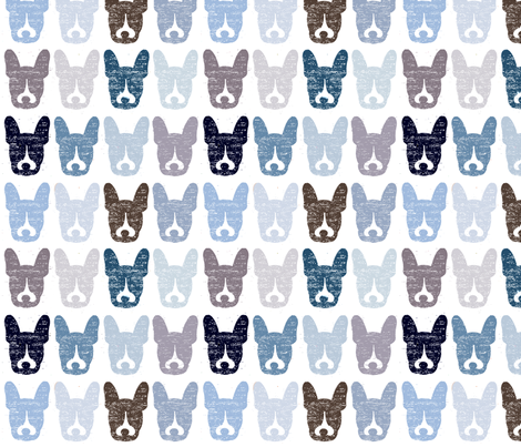 Murphy Blues fabric by melbity on Spoonflower - custom fabric