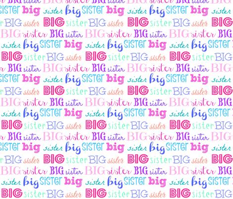 big sister // fabric by shandubdesigns on Spoonflower - custom fabric