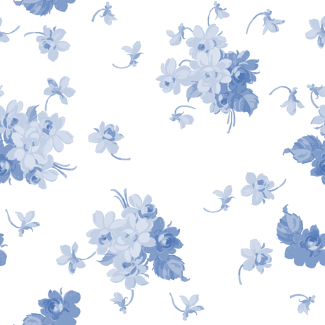 Violer on white fabric by lilyoake on Spoonflower - custom fabric