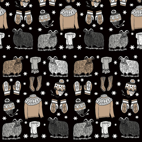 Icelandic_knits_009 fabric by leroyj on Spoonflower - custom fabric
