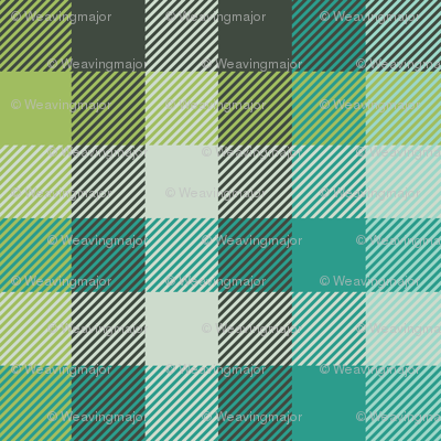 Madras plaid - teal and oolong