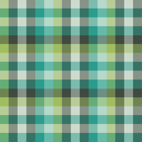 Madras plaid - teal and oolong fabric by weavingmajor on Spoonflower - custom fabric