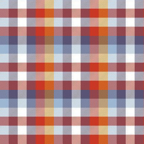 Madras plaid - autumn colors