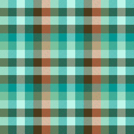 surfer's Madras plaid fabric by weavingmajor on Spoonflower - custom fabric