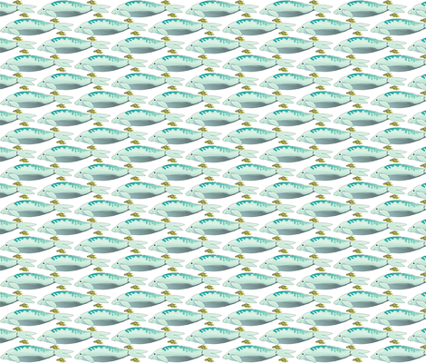 Dugong and Yellow Trevally fabric by combatfish on Spoonflower - custom fabric