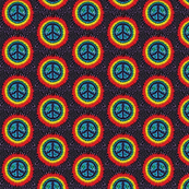 hippy tye dye peace sign